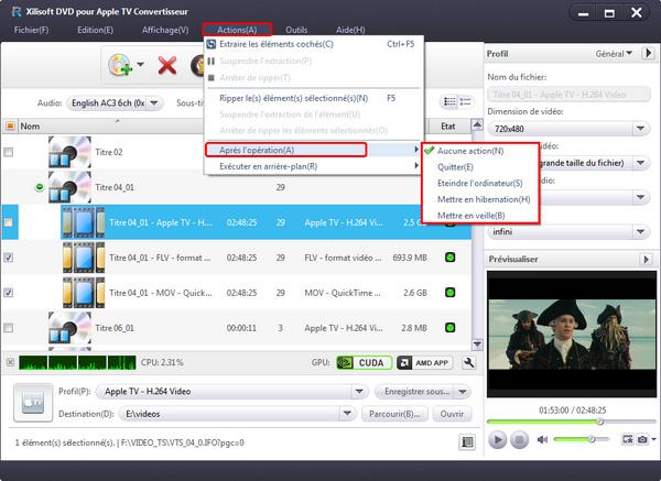 Xilisoft DVD pour Apple TV Convertisseur