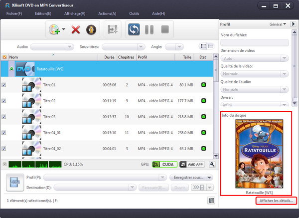 Xilisoft DVD en MP4 Convertisseur