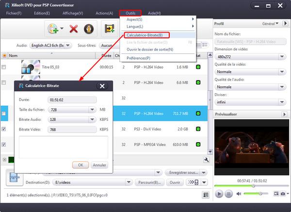 Xilisoft DVD pour PSP Convertisseur