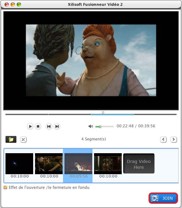 Xilisoft Fusionneur Video pour Mac